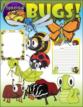 Bugs, Insects, Variety Pack clip art for Insect Resource Activities