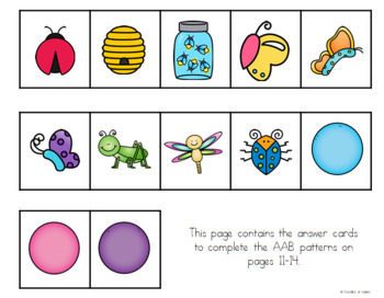 Bugs / Insects Pattern Cards {AB, ABC, ABB, AAB}