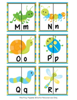 Bugs Letter Match Puzzles