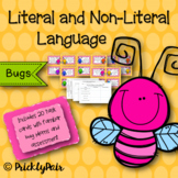Literal and Non-literal Meaning Task Cards (Bugs)