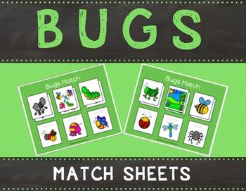 Bugs Match Sheets
