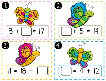 Bugs Math Mega Pack (Bug Themed Math Centers for First Grade)
