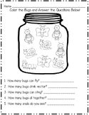 Bugs Math Sheet and Emergent Reader
