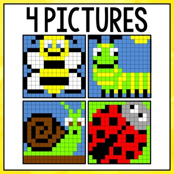 Mystery Pictures Addition and Subtraction (Bugs)