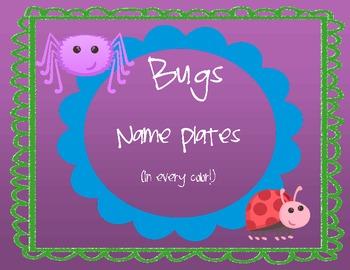 Bugs Name Plates