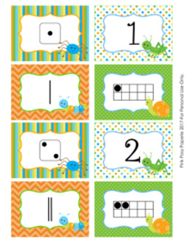 Bugs Numbers 1-10 Match Activity