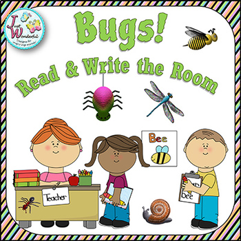 BUGS Write the Room Bugs and Insects Spring Literacy Activities