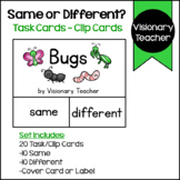 Bugs: Same or Different? Task Cards - Clip Cards