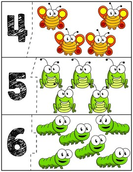 Bugs Self Correcting Quantity Puzzles | Numbers 1-12