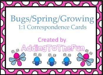 Bugs and Spring growing -  1:1 Correspondence Clip Cards