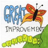 Bugs Sticker or Clipart Encouragement Butterfly