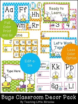Bugs Theme Classroom Decor Pack