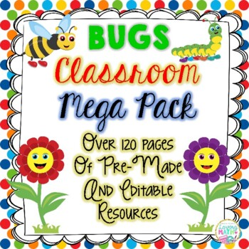 Bug Themed Classroom Mega Pack - EDITABLE