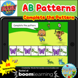 Bugs and Insects Themed Pattern Boom Cards™ - AB Pattern
