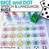 Bugs Themed Speech Therapy Activities   Dice and Dot   Printable + Digital