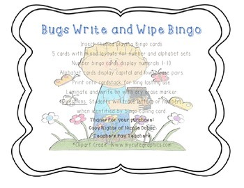 Bugs Write and Wipe Bingo