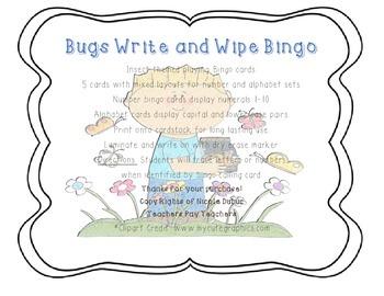 Bugs Write and Wipe Bingo