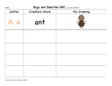 Bugs and Beasties ABC graphic Organizer