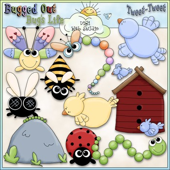 Bugs and Birds Clip Art - Insects Clip Art - Bugs Clip Art