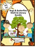 Back to School Math and Literacy Worksheets for Bugs and Insects Unit