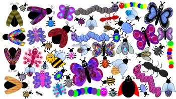 Bugs and Butterflies Clip Art Collection