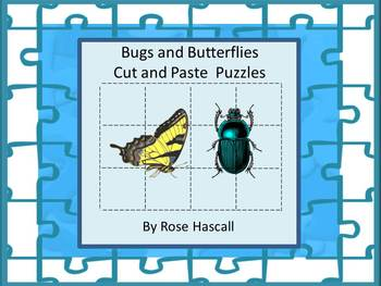 Bugs and Insects,Cut and Paste Puzzles,Early Finishers,Math Centers,Special Ed