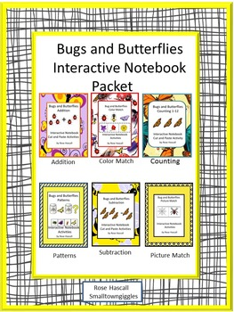 Bugs and Butterflies, Interactive Notebook, Summer Special Education, Summer