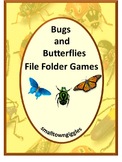 Bugs & Insects, Interactive File Folder Games, Special Education, Summer Review