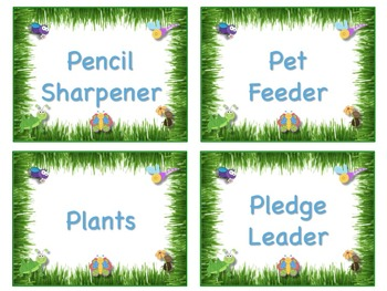 Bugs and Butterflies Theme Job Chart Cards - Great for Classroom Management!!!