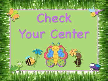 Bugs and Butterflies Themed Station/Center Signs Great Classroom Management!