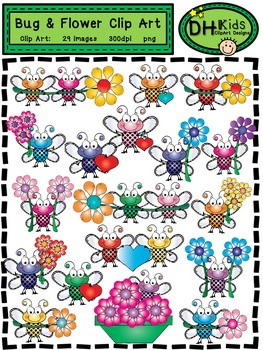Bugs and Flowers Clip Art - Insect Clip Art