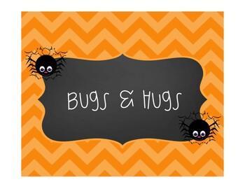 Bugs and Hugs Treat tags