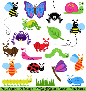 bugs and insects clipart and vectors by pinkpueblo tpt rh teacherspayteachers com insert clipart word 2016 insect clipart black and white