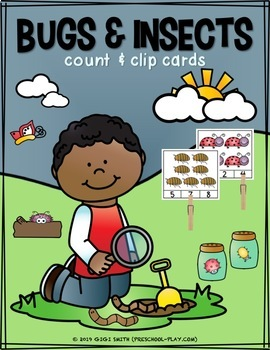 Bugs and Insects Count and Clip Cards