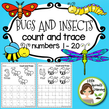 Bugs and Insects Count and Trace (Numbers 1 -10 )