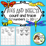 Bugs and Insects Count and Trace  Numbers 0 -20
