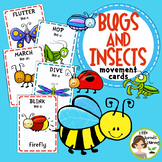 Bugs and Insects Movement Cards - Brain Breaks (Transition