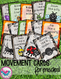 Bugs and Insects Movement Cards for Preschool and Brain Break