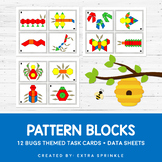 Bugs and Insects Pattern Blocks Task Cards and Data Sheets