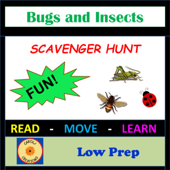 Bugs and Insects Scavenger Hunt
