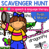 Speech Therapy Scavenger Hunt for Bugs and Insects