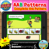 Bugs and Insects Themed Pattern Boom Cards™ - AAB Pattern