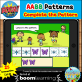 Bugs and Insects Themed Pattern Boom Cards™ - AABB Pattern