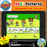 Bugs and Insects Themed Pattern Boom Cards™ - AABC Pattern