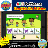 Bugs and Insects Themed Pattern Boom Cards™ - ABC Pattern