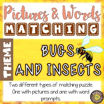 Bugs and Insects Vocabulary Matching Puzzles