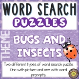 Bugs and Insects ESL Activities Word Search Puzzles