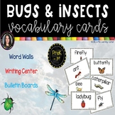 Bugs and Insects Word Wall Cards