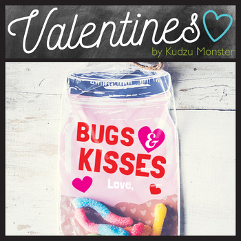 Bugs and Kisses Valentine Pink