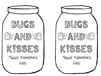 Bugs and Kisses Valentine's Day Card